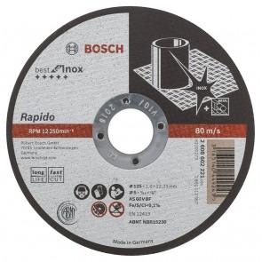 Диск за рязане на Inox ф125 х 1 мм Bosch Rapido Longlife