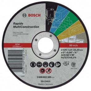Диск за рязане на метал ф115 х 1 мм Bosch за AL, Fe, Inox, PVC, Неметали