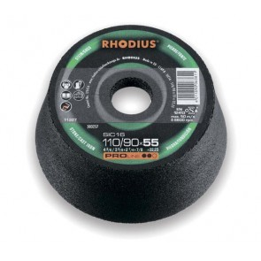 Абразивен диск Rhodius SIC 11М / ф110х55х22.2мм, 1C36P