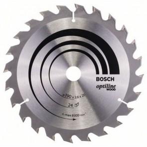 Циркулярен диск Bosch за дърво HM ф190х20/16х2.6мм, z24
