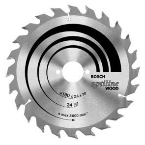 Циркулярен диск Bosch за дърво HM ф190х30х2.6мм, z36