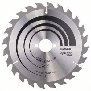 Циркулярен диск Bosch за дърво HM ф200х30х2.8мм, z24