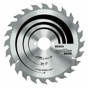 Циркулярен диск Bosch за дърво HM ф165х30х2.6мм, z48