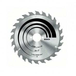 Циркулярен диск Bosch за дърво HM ф190 х30 х2мм, z24