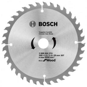 Циркулярен диск Bosch за дърво HM ф160х20/16х2.2мм, z36