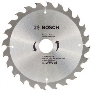 Циркулярен диск Bosch за дърво HM ф190х30х2.2мм, z24