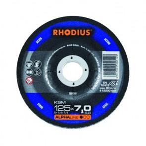 Карбофлексов диск за шлайфане на метал Rhodius KSMRS / ф125х6х22.2м