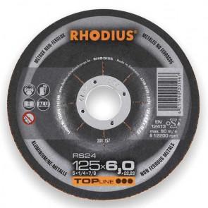 Карбофлексов диск за шлайфане на алуминний Rhodius RS24 / ф125х7х22.23мм
