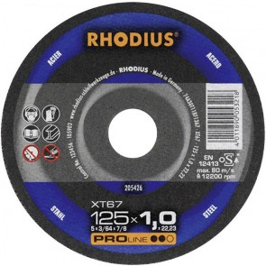 Карбофлексов диск за рязане на метал Rhodius XT67 / ф125х1.5х22.23мм