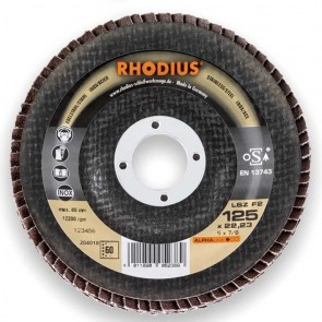 Сегментен диск от шкурка за неръждавейка Rhodius LSZF2 / ф125х22.23мм, P40
