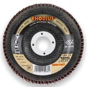 Сегментен диск от шкурка за неръждавейка Rhodius LSZF2 / ф125х22.23мм, P60