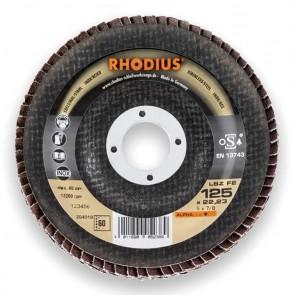 Сегментен диск от шкурка за неръждавейка Rhodius LSZF2 / ф125х22.23мм, P80