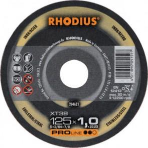 Карбофлексов диск за рязане на неръждавейка Rhodius XT38 / ф125х1х22.23мм