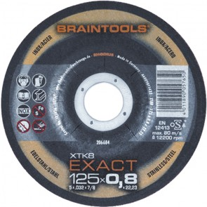 Карбофлексов диск за рязане на неръждавейка Rhodius XTK8 EXACT / ф115х0.8х22.23мм