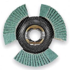 Сегментен диск от шкурка за метал Rhodius LSZ F VISION / ф125х22.23мм, P40