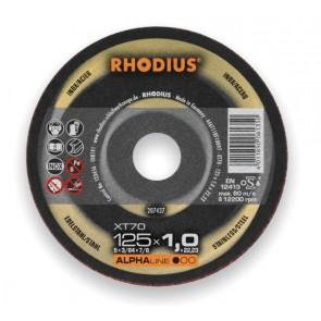 Карбофлексов диск за рязане на неръждавейка Rhodius XT70 / ф115х1х22.23мм