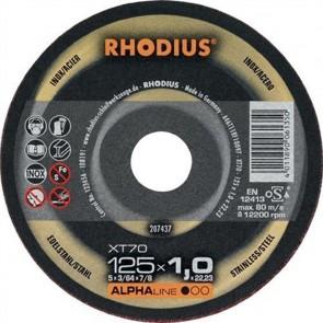 Карбофлексов диск за рязане на неръждавейка Rhodius XT70 / ф125х1х22.23мм