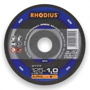 Карбофлексов диск за рязане на метал Rhodius XT77 / ф115х1х22.23мм