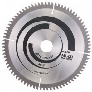 Циркулярен диск Bosch за алуминий HM ф216х30х2.5мм, z80