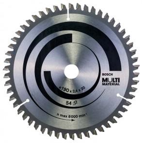 Циркулярен диск Bosch за алуминий HM ф190х20/16х2.4мм, z54