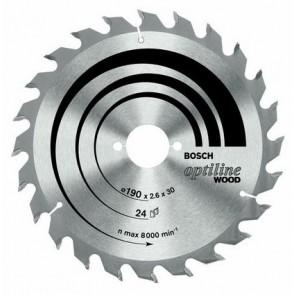 Циркулярен диск Bosch за дърво HM ф130х20х2.4мм, z30