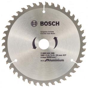 Циркулярен диск Bosch за алуминий HM ф160х20х2.2мм, z42