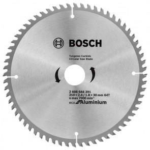 Циркулярен диск Bosch за алуминий HM ф210х30х2.6мм, z64