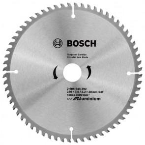 Циркулярен диск Bosch за алуминий HM ф230х30х2.2мм, z64