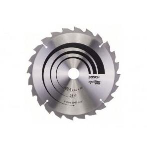 Циркулярен диск Bosch за дърво HM ф254х30х2мм, z24
