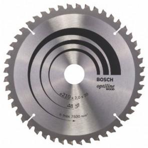Циркулярен диск Bosch за дърво HM ф216х30х2.8мм, z48