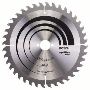Циркулярен диск Bosch за дърво HM ф250х30х3.2мм, z40