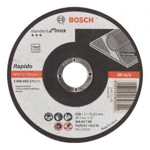 Карбофлексов диск за рязане на неръждавейка Bosch WA60TBF Rapido Long Life / ф125х1х22.23мм