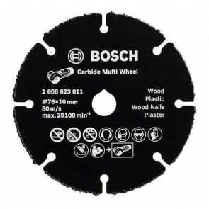 Универсален карбиден диск за рязане Bosch Multi Wheel / ф76х10мм