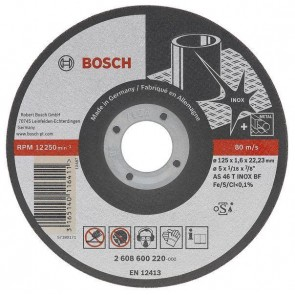 Карбофлексов диск за рязане на неръждавейка Bosch AS46 TI BF Rapido Standard / ф125х2х22.23мм