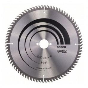 Циркулярен диск Bosch HM за ламинати / ф250х30х3.2мм, z80