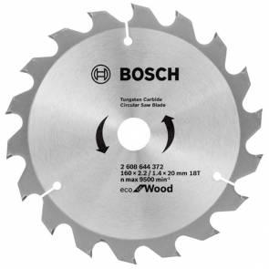Циркулярен диск Bosch HM за дърво / ф160х20х2.2мм, z18