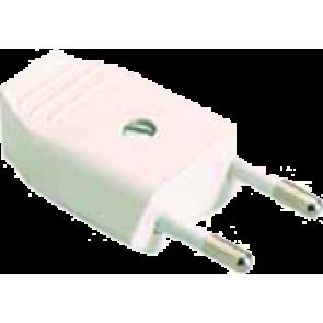 Щепсел плосък бял SOLERA 2P