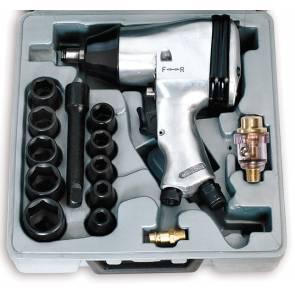 Комплект пневматичен гайковерт с вложки Fervi 0044