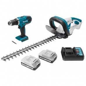 Комплект акумулаторни инструменти Makita DK18171 - DF457D, UH482D, 18V, 1.3Ah