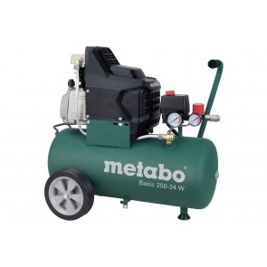 Бутален компресор Metabo BASIC 250-24 W / 1500W, 24л, 8бара, 200л/мин