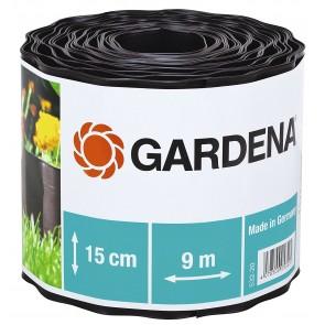 Разделителна лента за трева Gardena / 9м, 15см, кафява