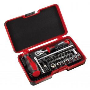 Комплект отвертки и гедоре 29бр FELO SMART II Box