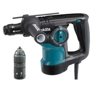 Перфоратор Makita HR2810T - 800 W, 0-1100 оборота, 0-4050 удара, 2.9 J