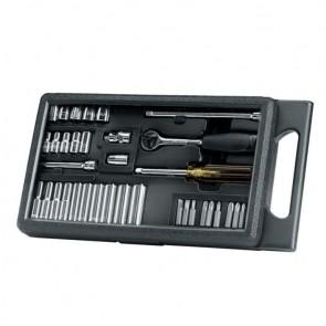 Комплект вложки с тресчотка и накрайници 1/4 35бр Stanley