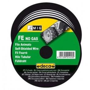 Заваръчна тел за телоподаващо устройство Deca ф 0.9 мм, 0.8 кг, опаковка, самозащитена, 010818
