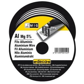 Заваръчна тел за телоподаващо устройство Deca ф 0.8 мм, 0.4 кг, опаковка, Al/Mg 5%, 010881